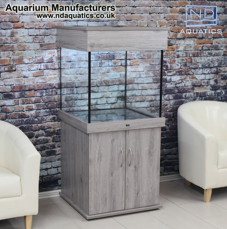 24x24x24 Tropical Fish tank.Cabinet - Oslo Oak