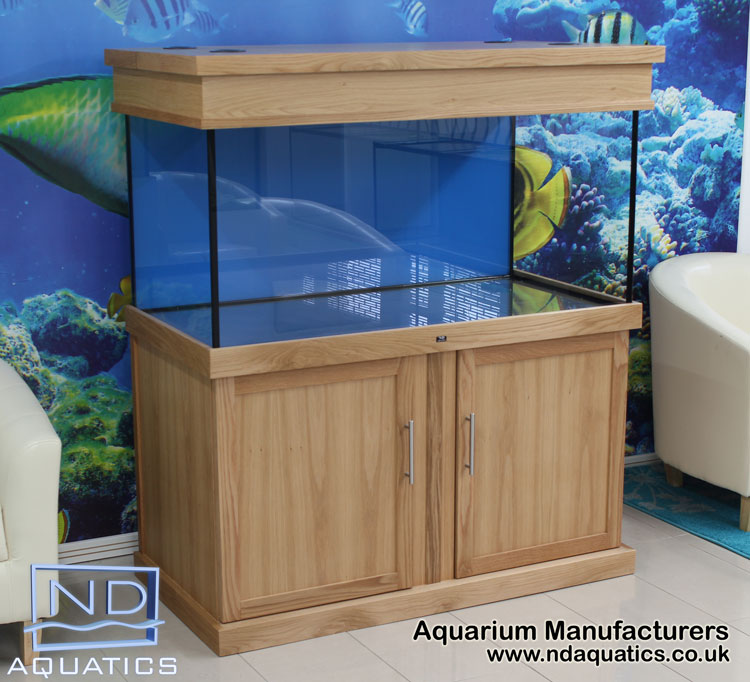 48x24x24  Tropical fish tank with Oak cabinet . Shaker style