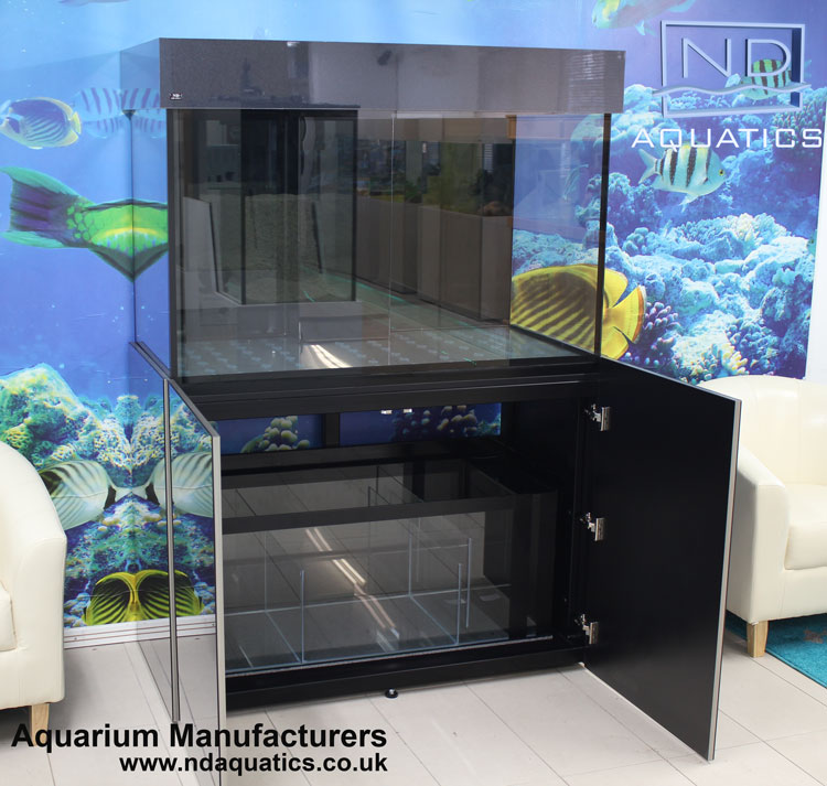 48x30x24 Marine Fish tank with metal framed cabinet
