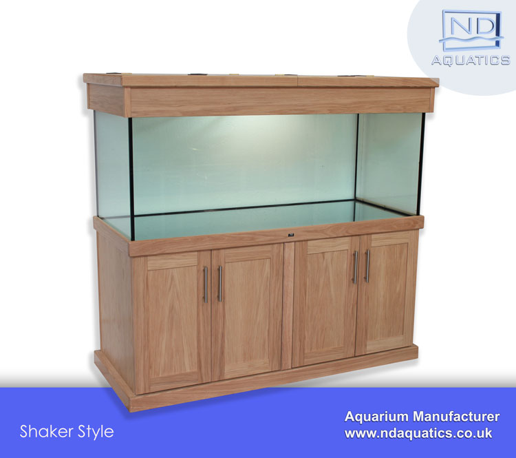 60x24x24 Tropical fish tank with Oak cabinet