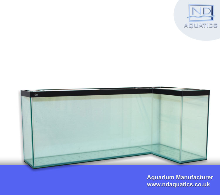 Bespoke L Shaped Tropical  Glass Tank