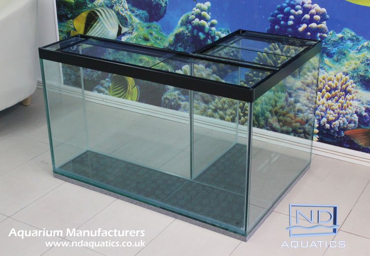Bespoke L shaped glass tank