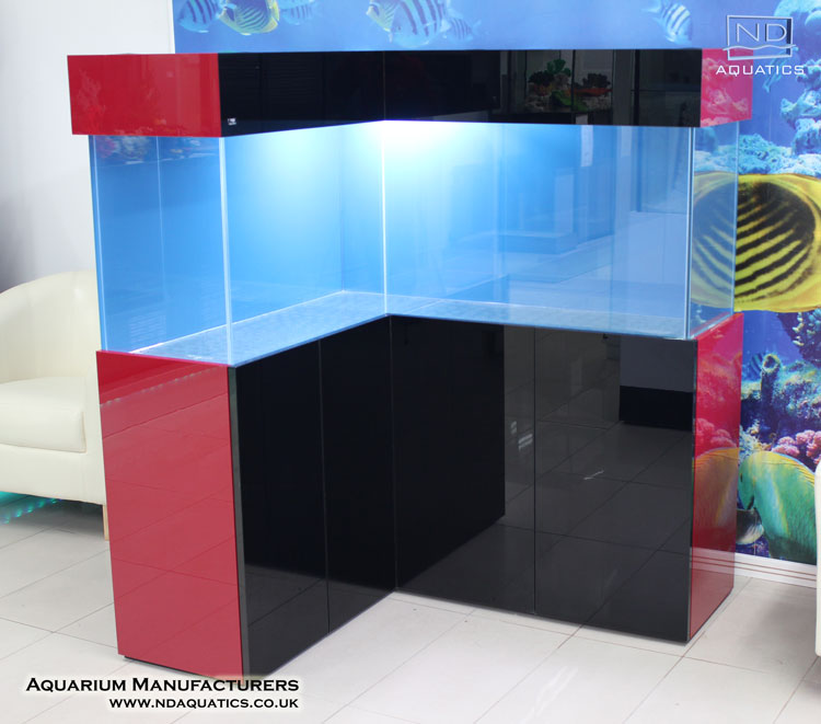L-Shape Bespoke  Glass Tank.