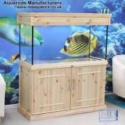 48x24x18 Tropical aquarium.Cabinet - natural pine . Victorian style