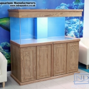 60x24x24 Marine fish tank.MDF Veneer oak cabinet. Shaker style