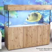60x24x18 Tropical Fish Tank. Natural Pine Cabinet
