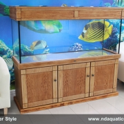 60x24x18 Stylish Fish tank with Shaker style cabinet.