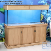 60x24x18 Tropical fish tank with Oak cabinet. Shaker Style.