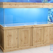72x24x18 Tropical aquarium. Natural/solid pine (Rustic pine)