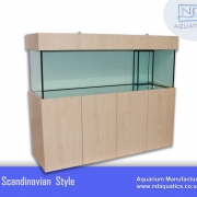 72x24x24 Marine fish tank with cabinet. Scandinavian style