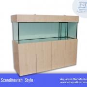 72x24x24 Marine fish tank with cabinet. Scandinavian style