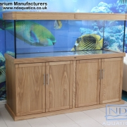 72x24x24 Tropical fish tank with Oak cabinet. Shaker Style