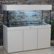 60x24x24 Luxe style fish tank.Cabinet - white Ash