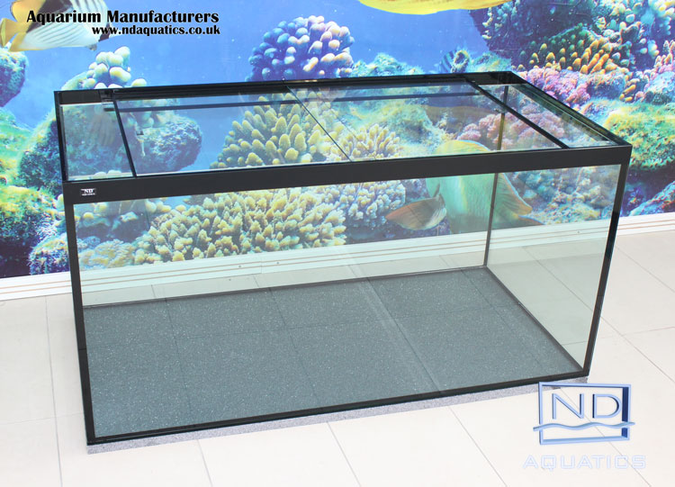 Custom made 48x24x24 marine aquarium aquarium for Acrylic vs glass fish tank
