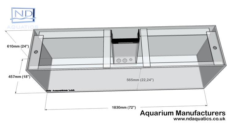 72x24x18-Marine Glass tasnk