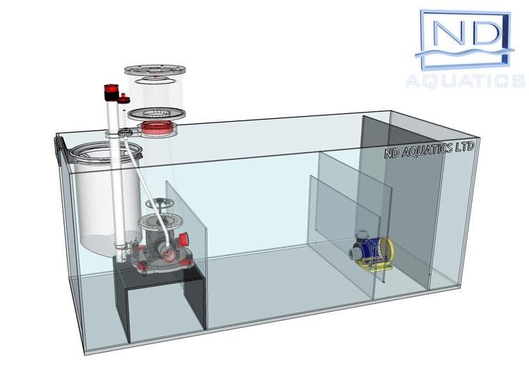 Sump tanks aquarium manufacturers nd aquatics ltd for Fish tank sump pump
