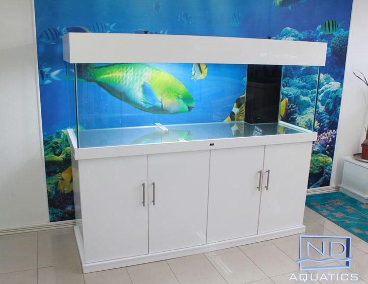 High gloss cabinets aquarium manufacturers nd aquatics ltd for Fish tank cabinets